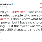 280 characters belong to Facebook! (Photo: Twitter)