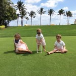 And even taking them to daddy's golf resort in Palm Beach #casual . (Photo: Instagram)