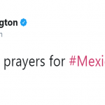 Kerry Washington sent her prayers for Mexico City. (Photo: Twitter)