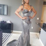 Who said you can only show off your dress on the red carpet? You go, Laverne Cox! (Photo: Instagram)