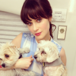 Zoey Deschanel, Zelda, and Dot (Photo: Instagram)