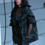 Kim Kardashian wearing Yeezy and Adidas at the Mercedes Benz Fashion Week. (Photo: WENN)