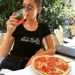 Even Victoria's Secret's model Bella Hadid can't say no to a good pizza! (Photo: Instagram)