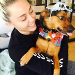 Miley Cyrus and Happy (Photo: Instagram)