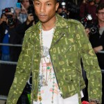 Pharrell Williams posing at the red carpet of the GQ Men of the Year Awards in 2014. (Photo: WENN)