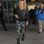 Heidi Klum arriving at the Heathrow Airport on a flight from Los Angeles. (Photo: WENN)