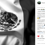 Beyoncé posted a picture of the Mexican flag in black and white on her Instagram. (Photo: Instagram)