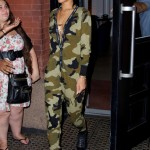 Rhianna, out and about in Soho. (Photo: WENN)