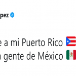 Jennifer Lopez also included Puerto Rico in her message of love and support on Twitter. (Photo: Twitter)