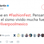 """Thinking of my people because of the earthquake. Stay strong, Mexico!"" Ricky Martin (Photo: Twitter)"