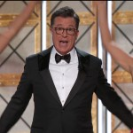 Stephen Colbert, who hosted the ceremony, ripped apart the inaccurate tweet. (Photo: WENN)