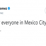Selena Gomez used Twitter so to send a message of support to the Mexican people. (Photo: Twitter)