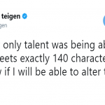 Chrissy Teigen isn't so happy about the recent change. (Photo: Twitter)