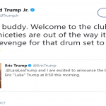 Don Jr. also shared a message on Twitter. (Photo: Twitter)
