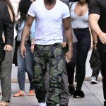 Floyd Mayweather arriving to the Jimmy Kimmel Live! Studios in LA. (Photo: WENN)