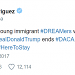 Actress Gina Rodriguez tweeted about DACA as well. (Photo: Twitter)