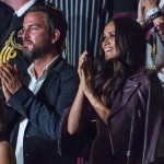 Meghan Markle watched the event with a friend, Markus Anderson. (Photo: WENN)