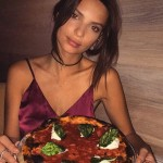A little pizza before hitting the fashion runway. (Photo: Instagram)