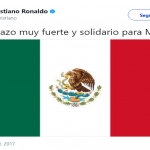 Cristiano Ronaldo sent a message to the Mexican people through Twitter. (Photo: Twitter)
