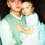 Eminem was 23 when his then girlfriend Kimberly Scott gave birth to his daughter Hailie. (Photo: WENN)