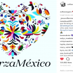 Sofia Vergara shared an image with the hashtag #FuerzaMéxico on her Instagram. (Photo: Instagram)