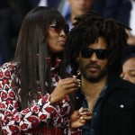Lenny Kravitz and Naomi Campbell were at the game too. (Photo: WENN)