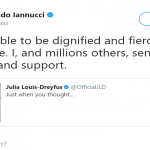 Veep creator Armando Iannucci also tweeted about Julia's diagnose. (Photo: Twitter)