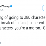 280 characters are for losers. (Photo: Twitter)