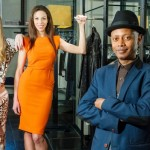 Vancouver Fashion Week founder and producer Jamal Abdourahman (centre), with VFW models Allison Nichol (left) and Arianna Wallace (Photo: Courtesy)