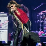 Steven Tyler wears the teeth of a racoon he caught as a child around his neck for good luck. Savage! (Photo: WENN)