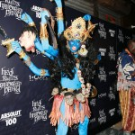 For her 2008 party, Klum transformed herself into goddess Kali, with multiple colorful arms and a bonus arm belt with bloody hands hanging off it. (Photo: WENN)