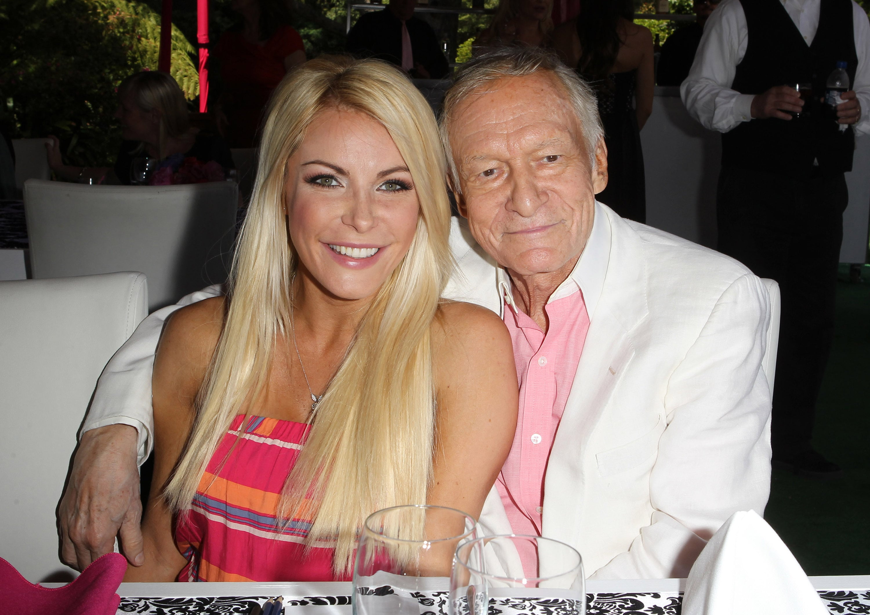 Crystal Hefner opened up for the first time about the Playboy mogul's death. (Photo: WENN)