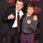 SPOILER ALERT: Joe and Gaten's characters develop an unexpected friendship in Season 2 of the show. (Photo: WENN)
