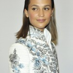 "Vikander made her first public appearance as a married woman at the opening of the Louis Vuitton exhibition ""Volez, Voguez, Voyagez"". (Photo: WENN)"