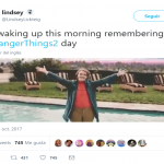 It's Stranger Things 2 day, and even Barb knows it! (Photo: Twitter)