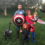 Scott, Kourtney, and their kids dressed up as the Avengers. (Photo: Instagram)