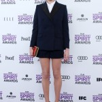 Michelle Williams in a Louis Vuitton shorts suit at the 2012 Film Independent Spirit Awards. (Photo: WENN)