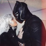 Khloe Kardashian and her boyfriend Tristan Thompson dressed up as Storm and Black Panther. (Photo: Instagram)