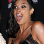 The moment when Rosario Dawson found out Michael Fassbender had secretly married Alicia Vikander. (Photo: WENN)
