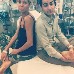 Heidi Klum and Zac Posen got bandaged up at the hospital after stepping on a rusty nail! (Photo: Instagram)