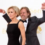 William H. Macy seizing his chance to photobomb Felicity Huffman. And he nailed it. (Photo: WENN)