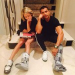 Kelly Ripa and her husband Mark Consuelos both hurt their feet at the same time! Seems like they couldn't do much to take care of each other! (Photo: Instagram)
