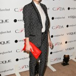 Emma Roberts attends the Vogue Eyewear in 2012, wearing a Nanette Lepore suit. (Photo: WENN)