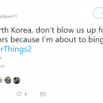 When not even Kim Jong Un can get in the way of your Stranger Things marathon. (Photo: Twitter)