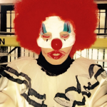 Madonna is always one step ahead! Las year she dressed up as a creepy clown. (Photo: Instagram)