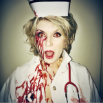 Martha Stewart dressed as a zombie nurse. (Photo: Instagram)
