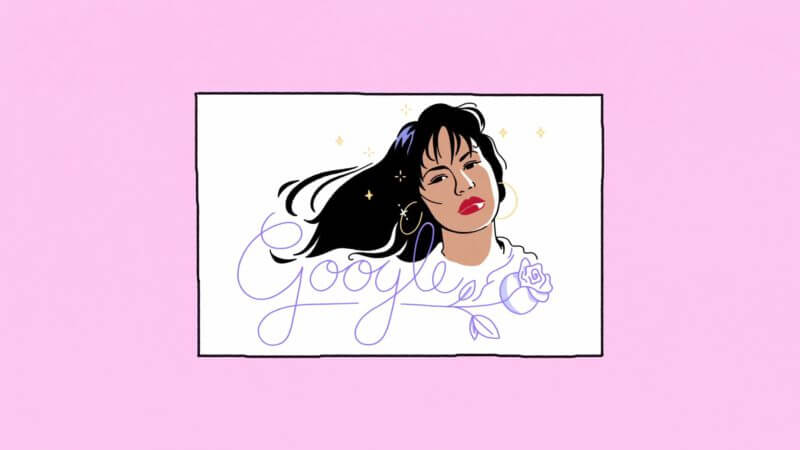 Google created a Doodle inspired by the life and legacy of Selena Quintanilla in honor of the tenth anniversary of her first studio album. (Photo: Instagram)