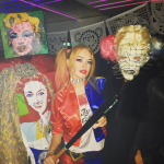 Lindsay Lohan dressed up as Harley Quinn, one of the most popular costumes of 2106! (Photo: Instagram)