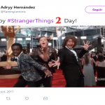 Have a happy, scary, upside down Stranger Things 2 day, fellas! (Photo: Twitter)