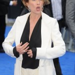 Emma Thompson when she saw herself in the mirror dressed up as Nanny McPhee. (Photo: WENN)